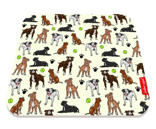 Selina-Jayne Staffy Dogs Limited Edition Designer Mouse Mat